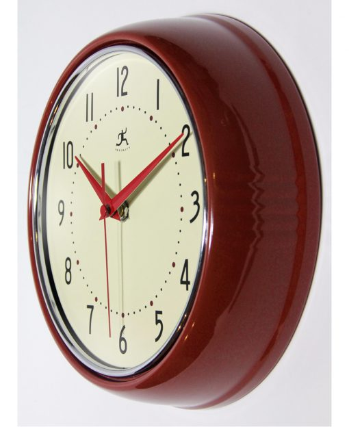 from left side retro red wall clock 9 inch kitchen