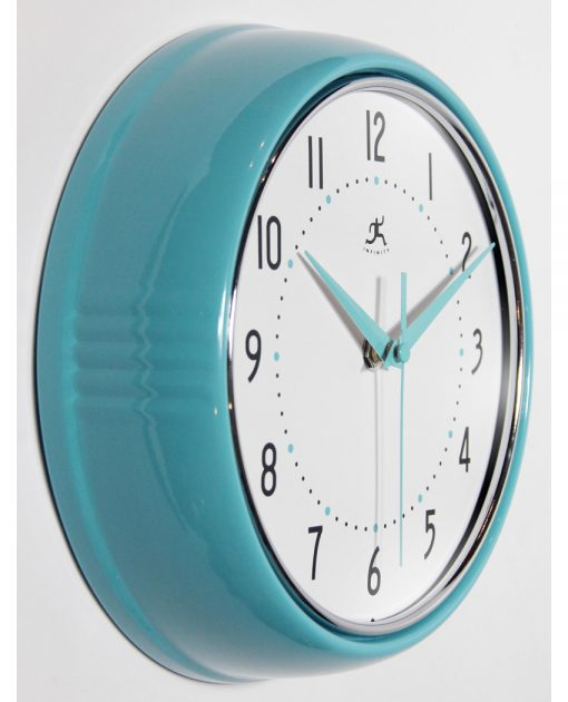 from right side retro aluminum wall clock 9 inch