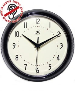 10940-BLACK Black Retro Wall Clock kitchen