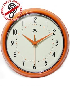 Round Retro Orange Wall Clock kitchen