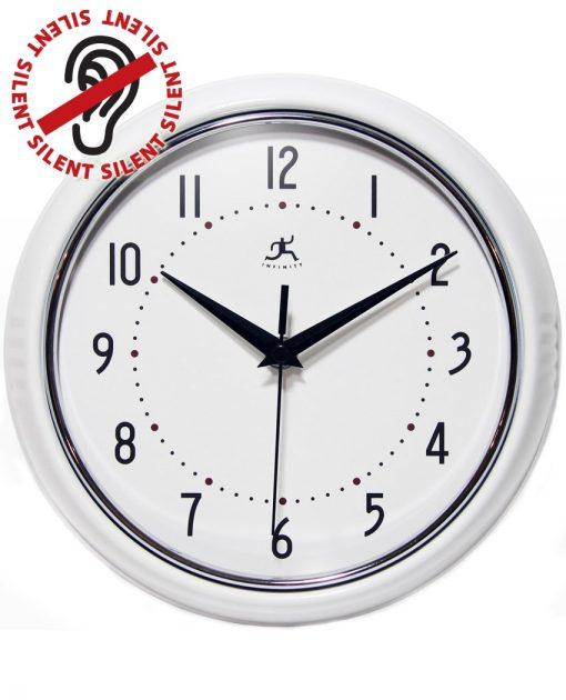 Round White Retro Wall Clock kitchen