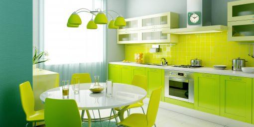 environmental square green retro kitchen