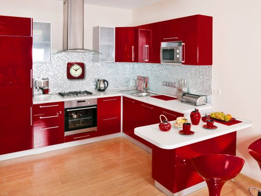 red kitchen environmental
