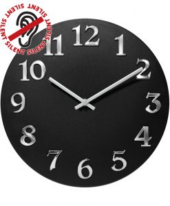 12 inch Vogue Black Resin Wall Clock for indoor