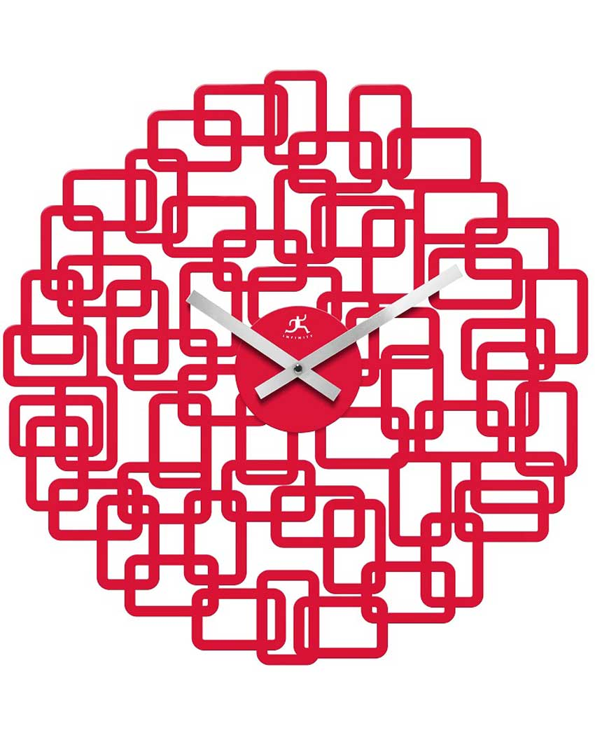 19 inch Helix; a Red Resin Wall Clock