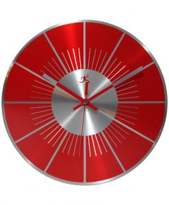 Red Round Large Wall Clock kitchen