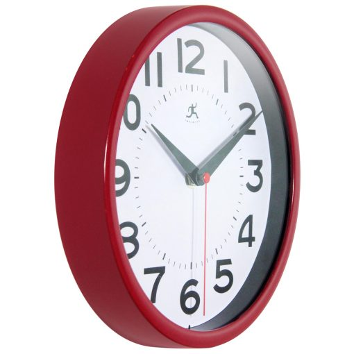 from right side red metro wall clock 9 inch