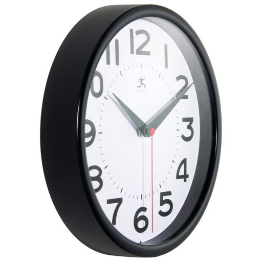 from right side black metro wall clock 9 inch
