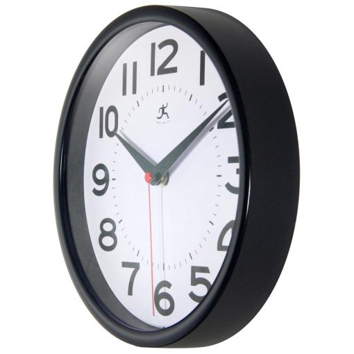 from left side black metro wall clock