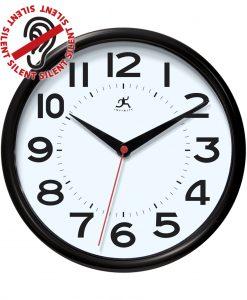 black metro wall clock