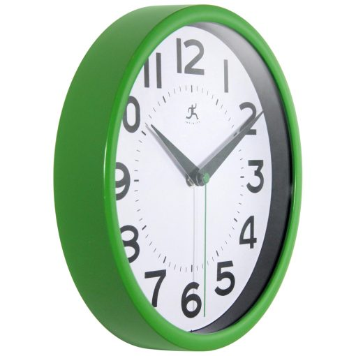 from right side metro wall clock green