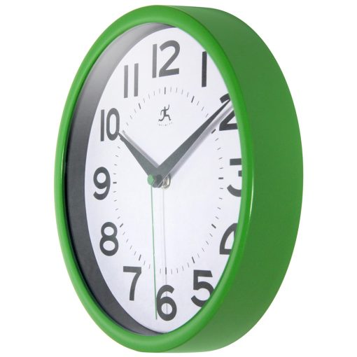 from left side metro wall clock green