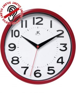 metro red wall clock