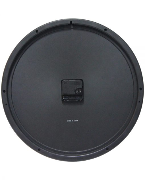 back of impact black wall clock 15 inch