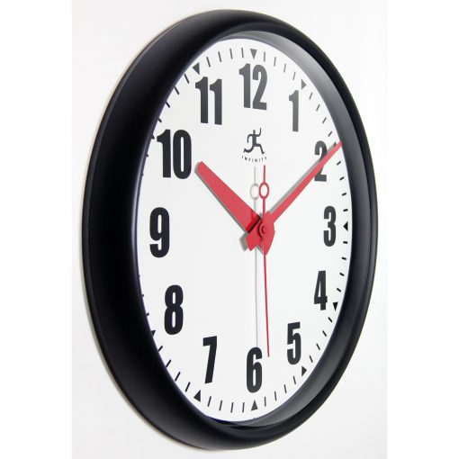 from right side impact black wall clock 15 inch