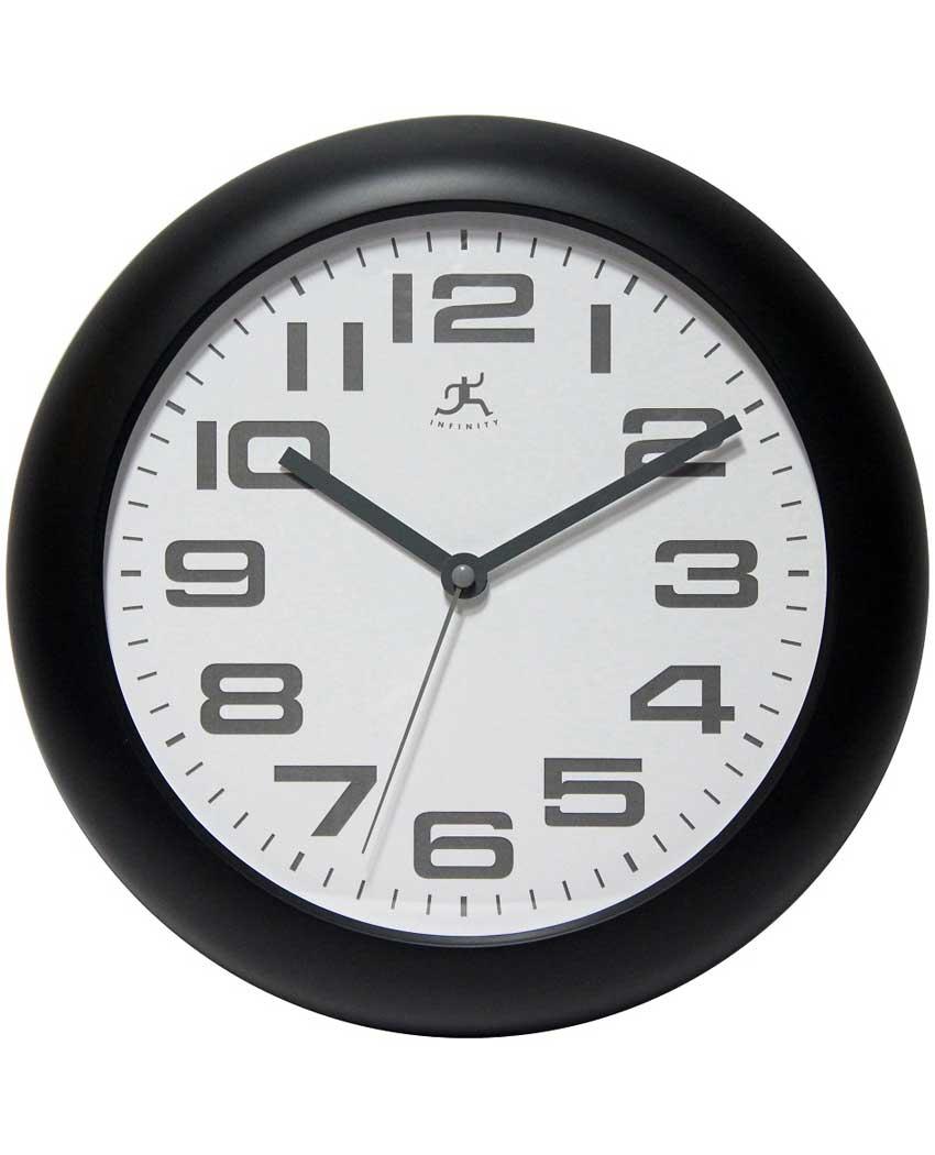 14761BK-3782 12 inch clear wall clock