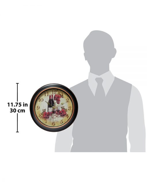 for scale pinot black wall clock 12 inch wine