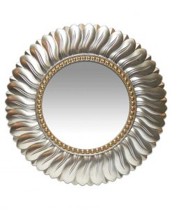 21.5 inch Marseille; a Gold Resin Wall Mirror