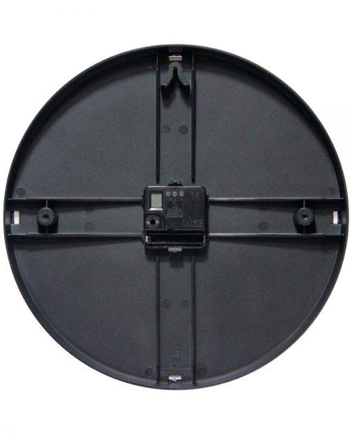 carnegie black wall clock 12 inch