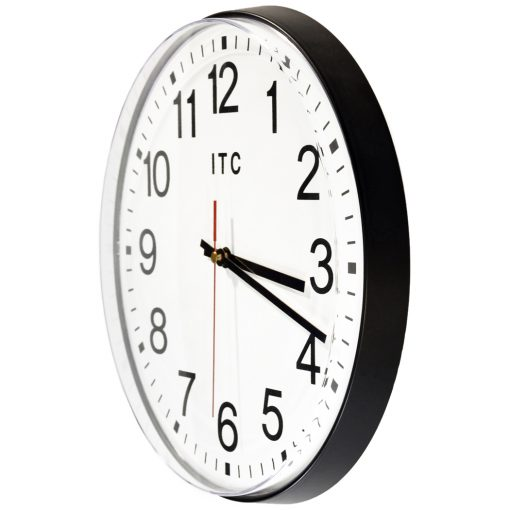 from left side carnegie black wall clock 12 inch