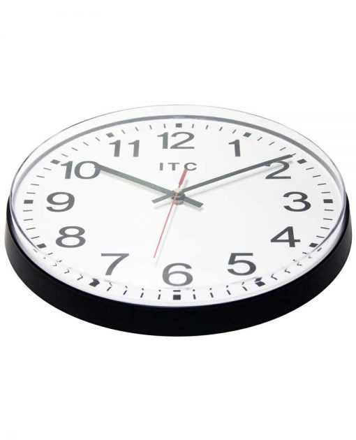 carnegie black basic wall clock