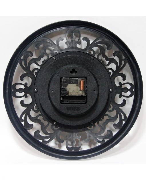 back of sofia brown wall clock 12 inch