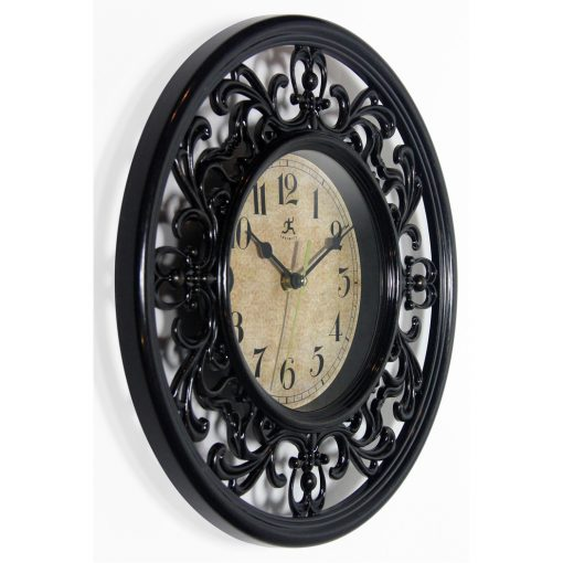 from right side sofia brown wall clock 12 inch