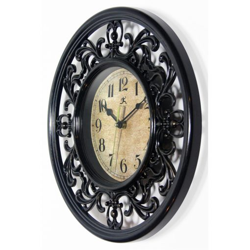 from left side sofia brown wall clock 12 inch