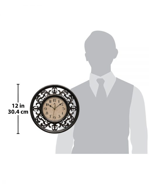 sofia brown wall clock 12 inch for scale