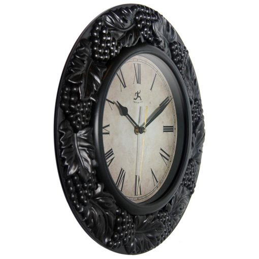 from right side pewter napa wall clock