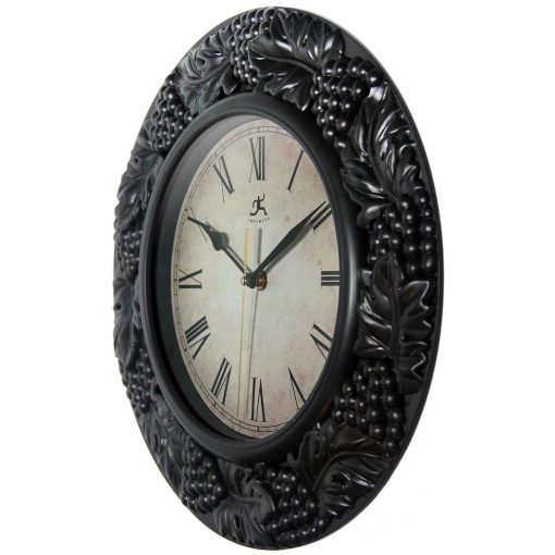 from left side napa pewter wall clock