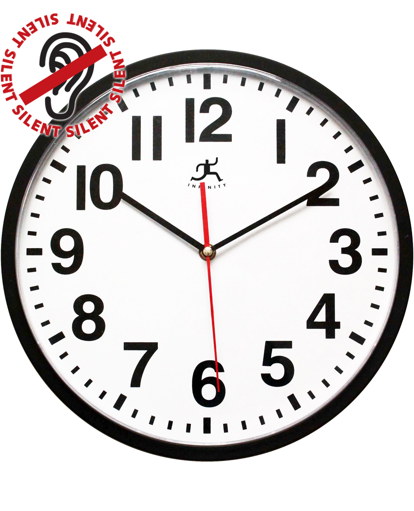 13 Inch Pure A Black Resin Wall Clock For Indoor Clock