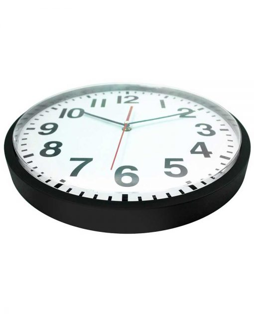 pure black wall clock 13 inch
