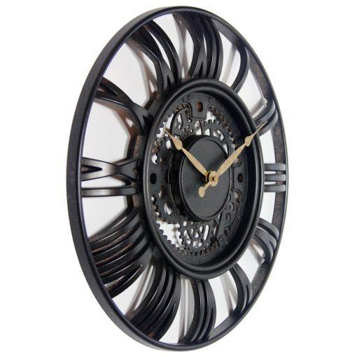 from right side roman gear wall clock