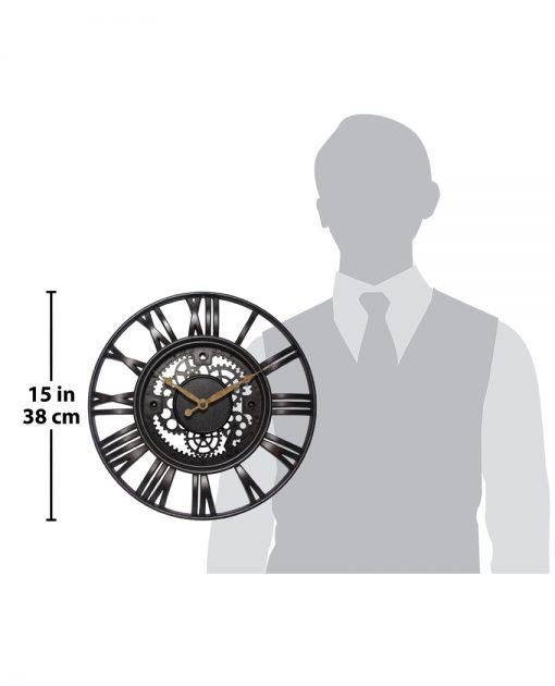 for scale roman gear wall clock