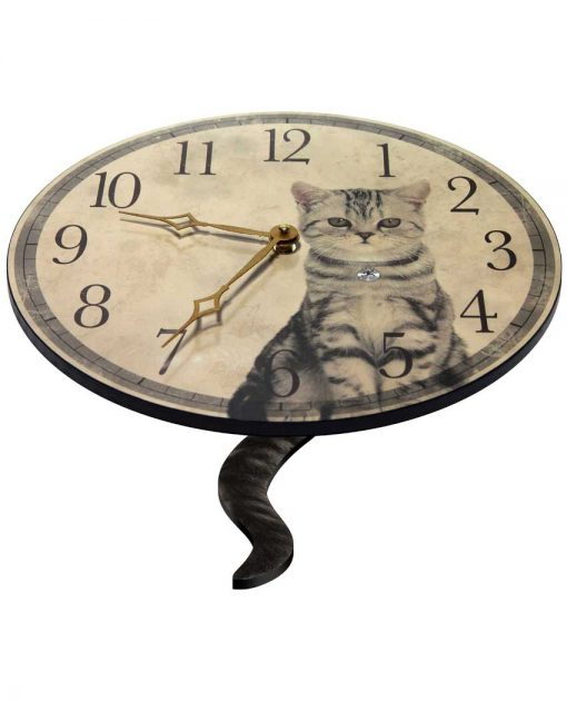 cat clock purrfect timing cat lovers with tail