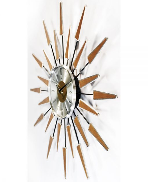 cheap mid century modern wall clock 24 inch