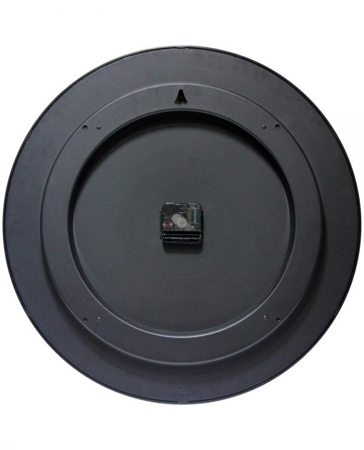 back of profuse black wall clock 20 inch
