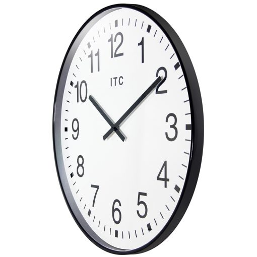 from left side profuse black wall clock 20 inch
