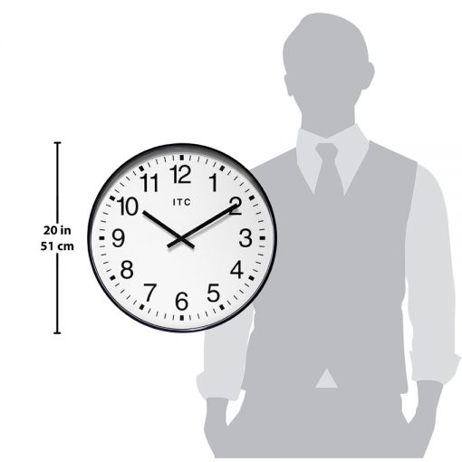 profuse black wall clock for scale large easy to read office warehouse