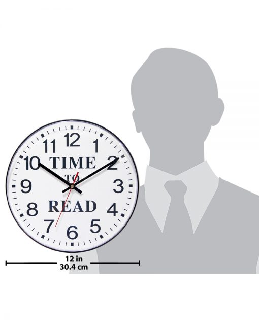 for scale time to read black wall clock 12 inch office large easy to read for office