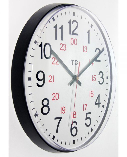 12 inch easy to read wall clock simple from right side
