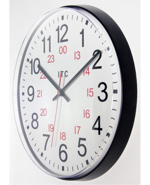12 inch wall clock from left side