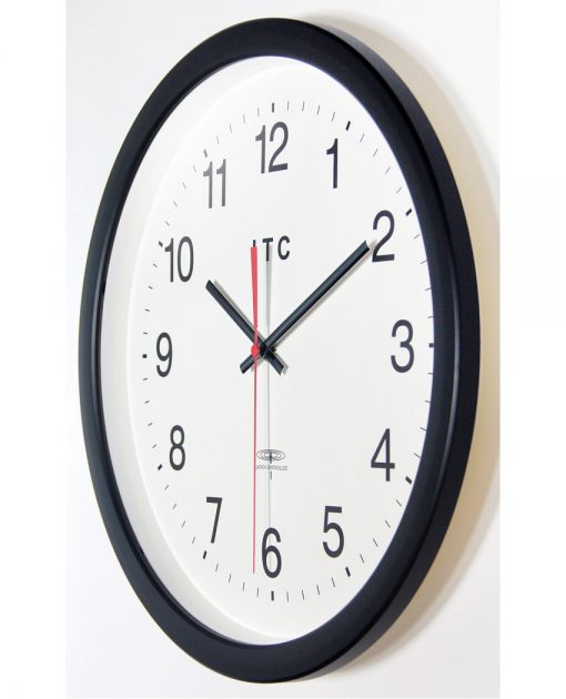 from left side time keeper brown resin wall clock 14 inch
