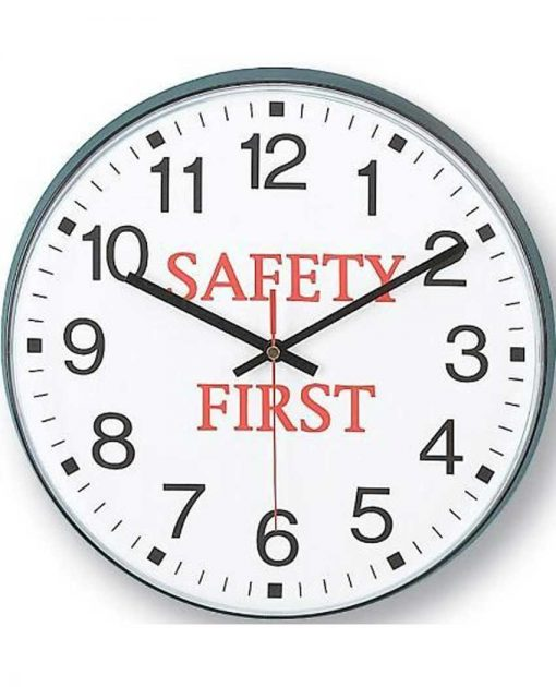 14529BK-3559 safety first wall clock warehouse