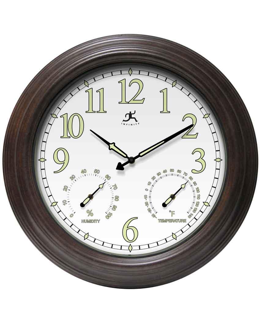 18.5 inch Radiant Reader Rustic Steel Wall Clock