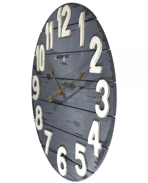 from left side tree house blue wall clock 24 inch large