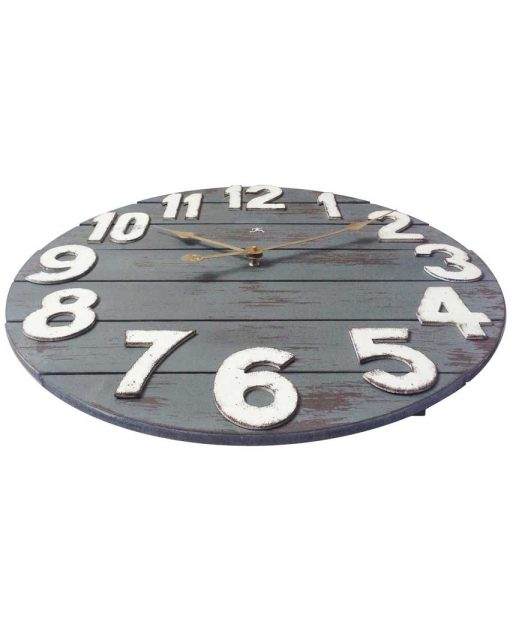 tree house blue wooden wood wall clock large 24 inch