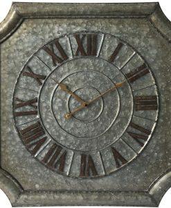 Stamped Metal Square Large Wall Clock kitchen