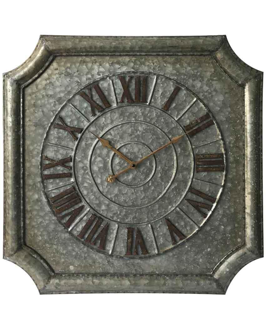 22.75 inch Stamped Galvanised Metal Wall Clock